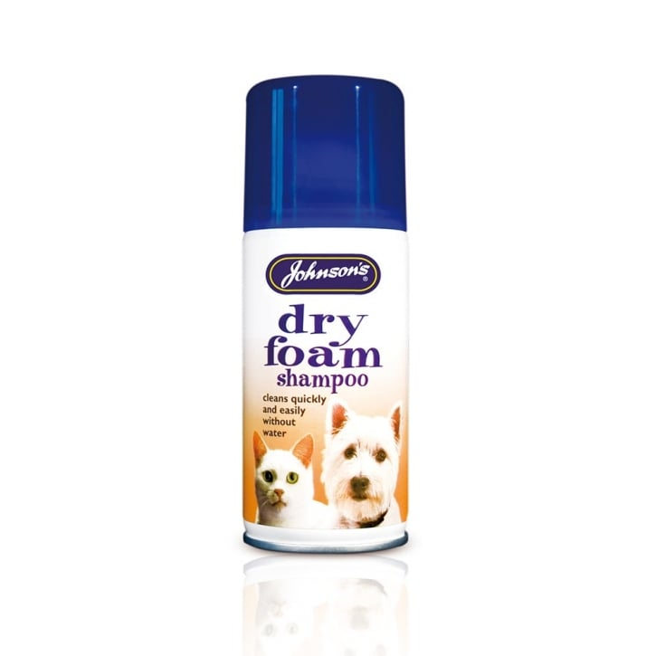 Johnsons Veterinary Dry Foam Shampoo For Dogs & Cats 150ml