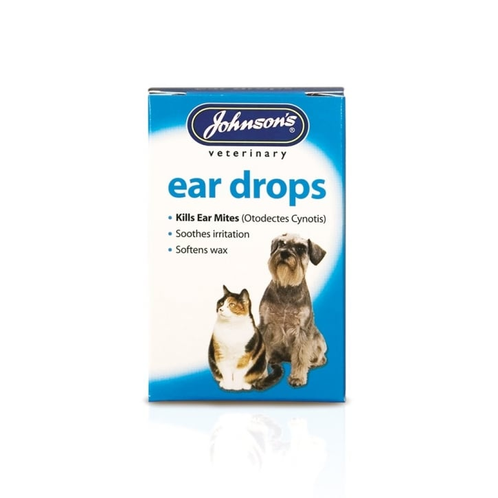 Johnsons Veterinary Ear Drop Solution for Dogs & Cats 15ml