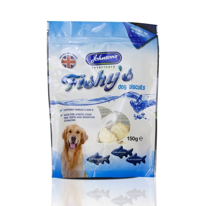 Johnsons Veterinary Fishy's Dog Biscuits 150g