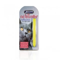 Johnsons Veterinary Reflective Felt Cat Flea Collar