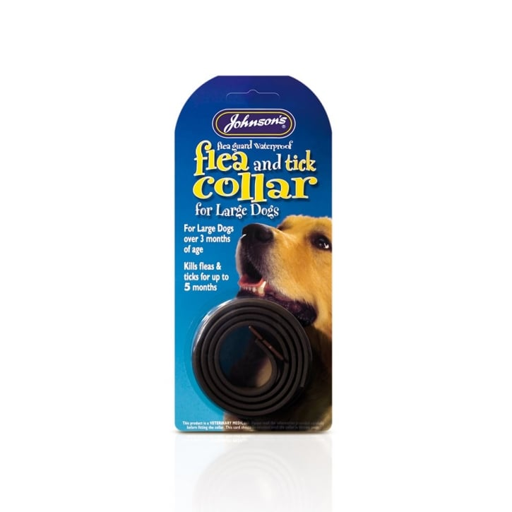 Johnsons Veterinary Waterproof Plastic Dog Flea & Tick Collar Large