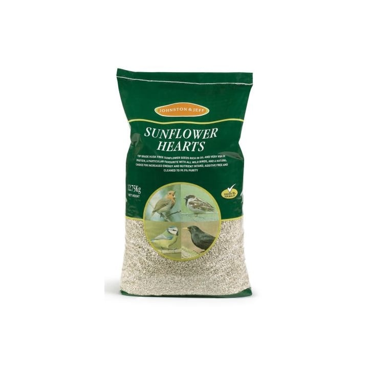 Johnston & Jeff Wild Bird Sunflower Hearts 12.75kg