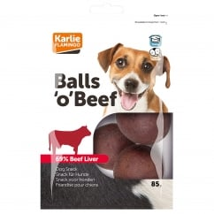 Karlie Flamingo Balls 'O' Beef Dog Snacks - Pack 12
