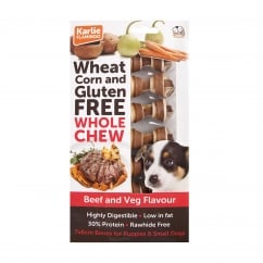 Wheat Corn & Gluten Free Whole Chew Dog Bone Beef & Veg Pack 7