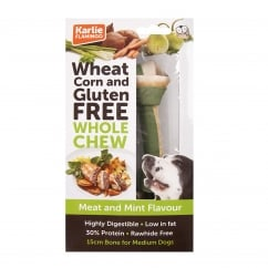 Wheat Corn & Gluten Free Whole Chew Dog Bone Meat & Mint 15cm