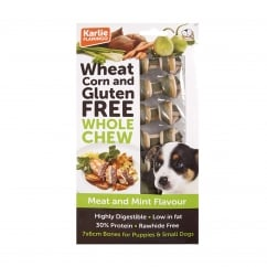 Wheat Corn & Gluten Free Whole Chew Dog Bone Meat & Mint Pack 7
