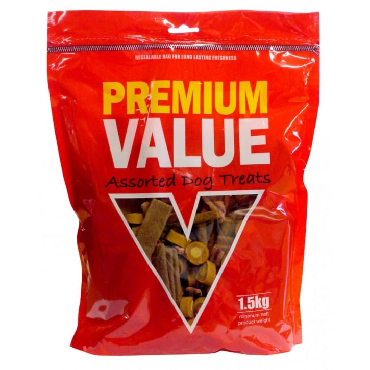Kennelpak Premium Values Semi Moist Chew Assortment 1.5kg