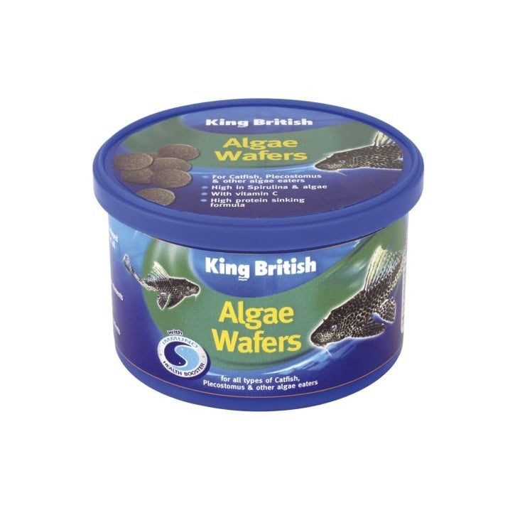 King British Algae Wafers For Catfish Etc With Ihb - 40gm
