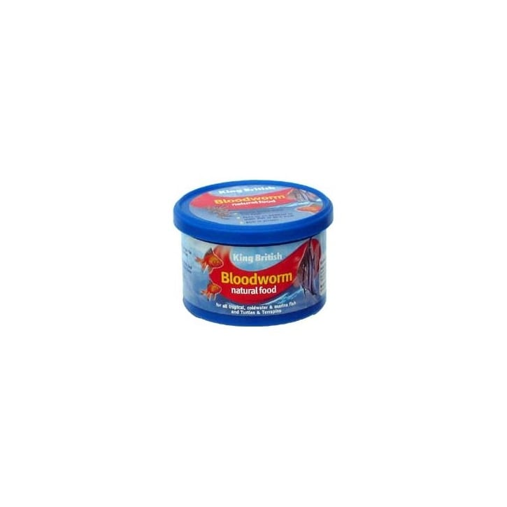 King British Bloodworm Natural Fish & Turtle Food 7gm