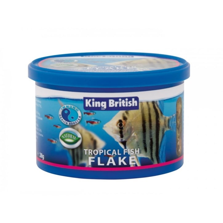 King British Tropical Flake Complete Fish Food 28gm