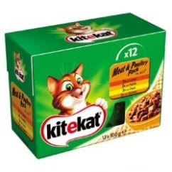 KiteKat Pouches Meat & Poultry In Jelly Combo Cat Food Pack Of 12 x 100g