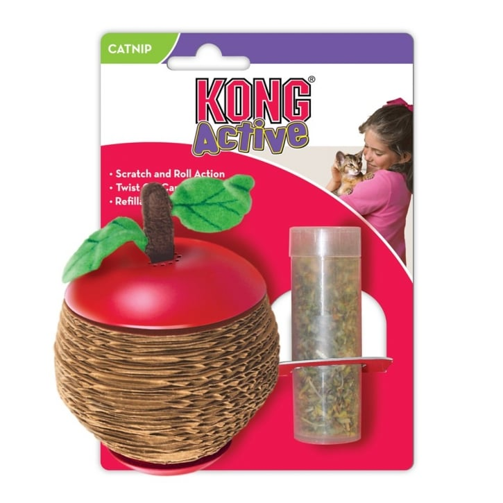 Kong Active Catnip Scratch Apple Cat Toy