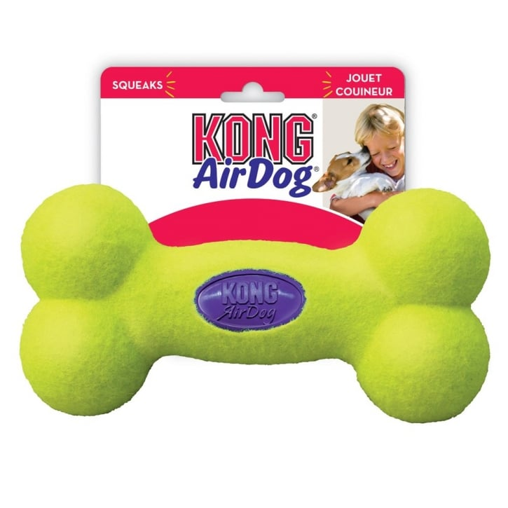 Kong Air Dog Squeaker Bone Play Toy Large