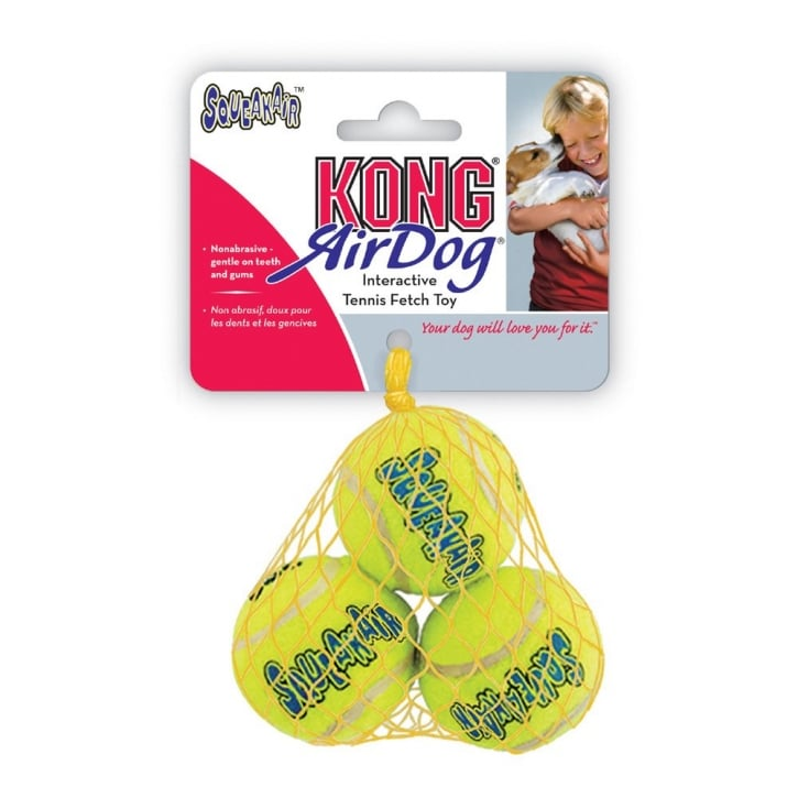 Kong Air Dog Squeaker Tennis Ball Extra Small - Pack 3