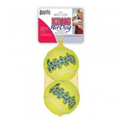 Kong Air Dog Squeaker Tennis Balls - Large Pack 2