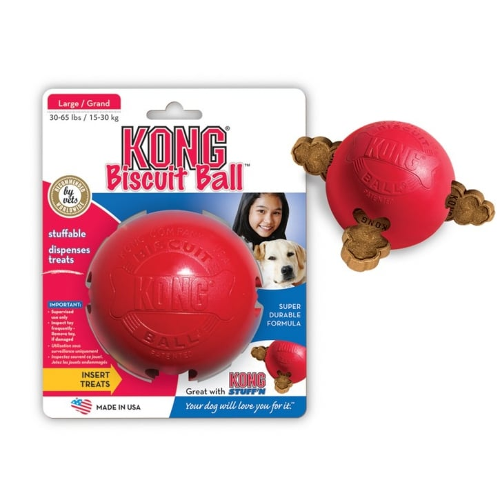 Kong Biscuit Dog Treat Play Ball - Large