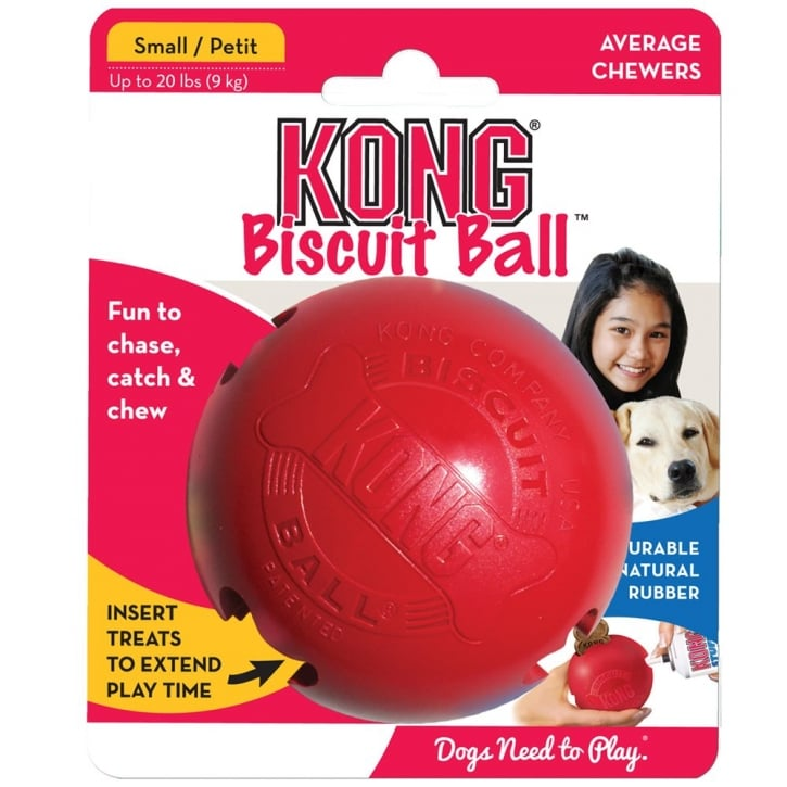 Kong Biscuit Dog Treat Play Ball - Small