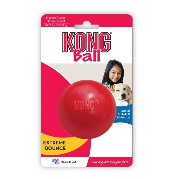 Kong Solid Rubber Play Ball - Medium / Large - 8cm Dia