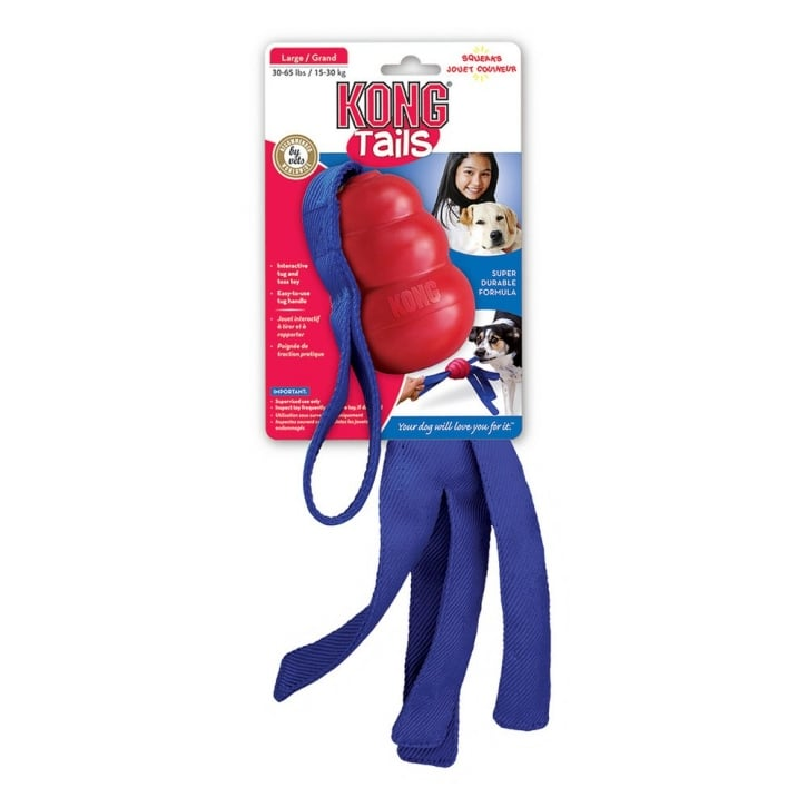 Kong Tails Squeaky Dog Play Toy - Medium