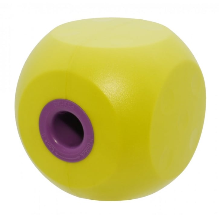 Kruuse Buster Mini Dog Treat Ball & Play Toy - Lime
