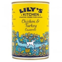 Lily's Kitchen Chicken & Turkey Casserole Wet Dog Food 400g