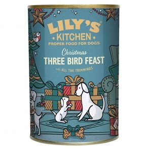 Lily's Kitchen Christmas Three Bird Feast Tin for Dogs 400g