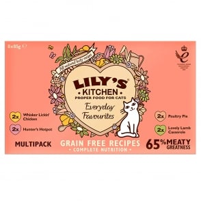 Lily's Kitchen Everyday Adult Cat Favourites Multipack Wet Cat Food 8 x 85g