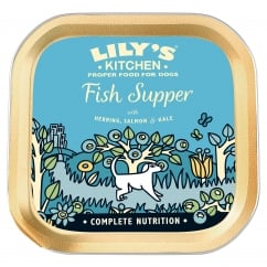 Fish Supper With Herring, Salmon & Kale Wet Dog Food 150g