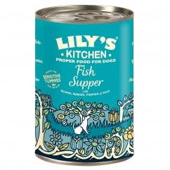 Fish Supper With Herring, Salmon & Kale Wet Dog Food 400g