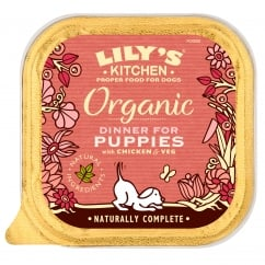 Organic Dinner For Puppies With Chicken & Veg Wet Dog Food 150g