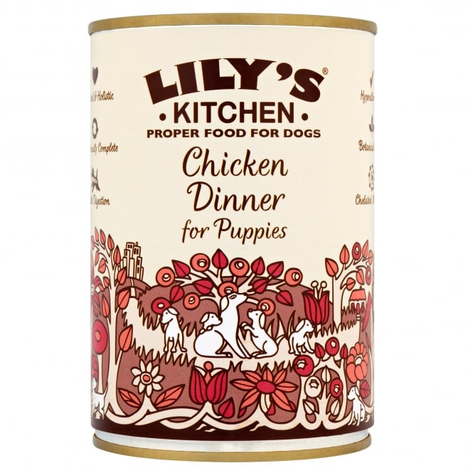 Lily's Kitchen Proper Food for Dogs Chicken Dinner for Puppies 400g