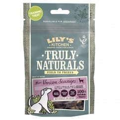 Lily's Kitchen Truly Naturals Mini Venison Sausages Dog Treats 60g