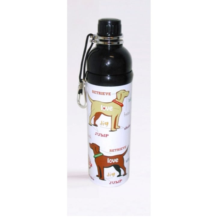 Long Paws Pet Water Bottle Puppy Love Design 750ml