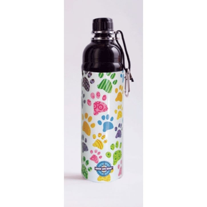 Long Paws Pet Water Bottle Puppy Paws Design 500ml
