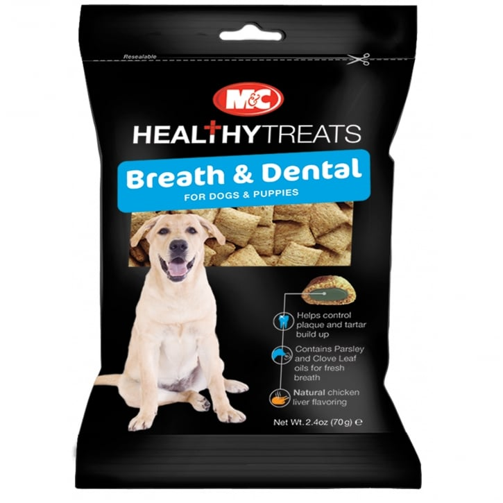 Mark & Chappell Healthy Treats Breath & Dental Dog & Puppy Treats 70g
