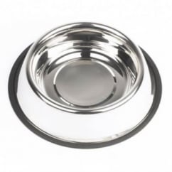 Non Slip Stainless Steel Dog Feed/water Bowl - 22cm