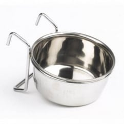 Mayfield Stainless Steel Hook On Dog Water/feed Dish - 124mm