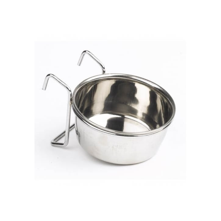 Mayfield Stainless Steel Hook On Dog Water/feed Dish - 95mm
