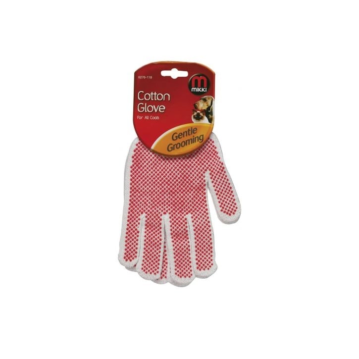 Mikki Cotton Grooming Glove For All Dog & Cat Coats