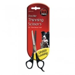 Mikki Double Thinning Scissors For Thick & Dense Coats
