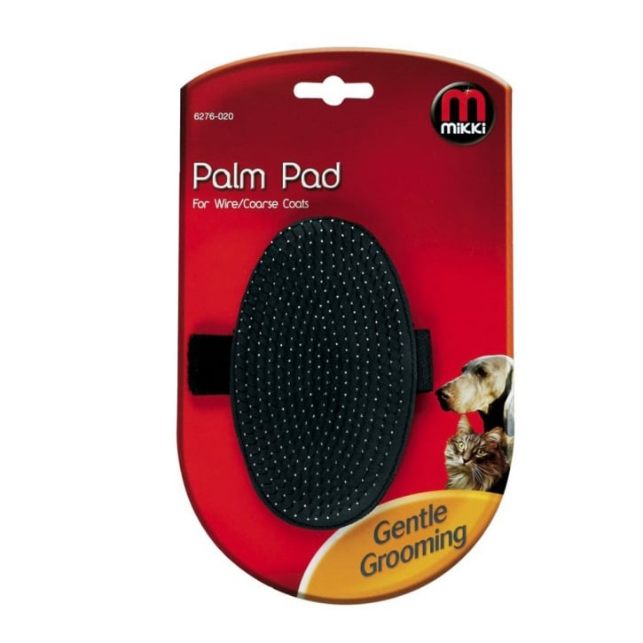 Mikki Palm Pad Dog Groomer for Wire/Coarse Coats