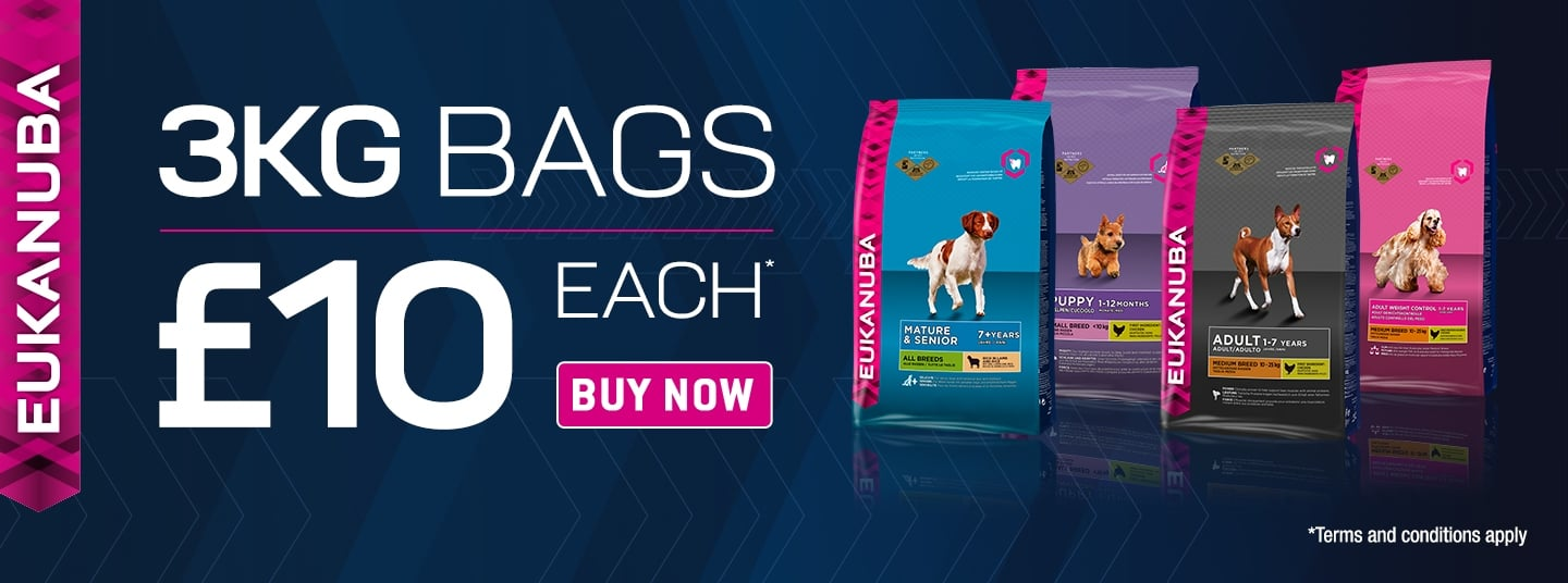 Eukanuba 3kg Bags - Now Only £10