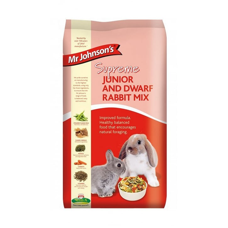 Mr Johnsons Supreme Junior & Dwarf Rabbit Mix 15kg