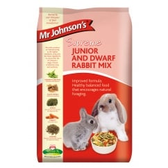 Mr Johnsons Supreme Junior & Dwarf Rabbit Mix 2.25kg