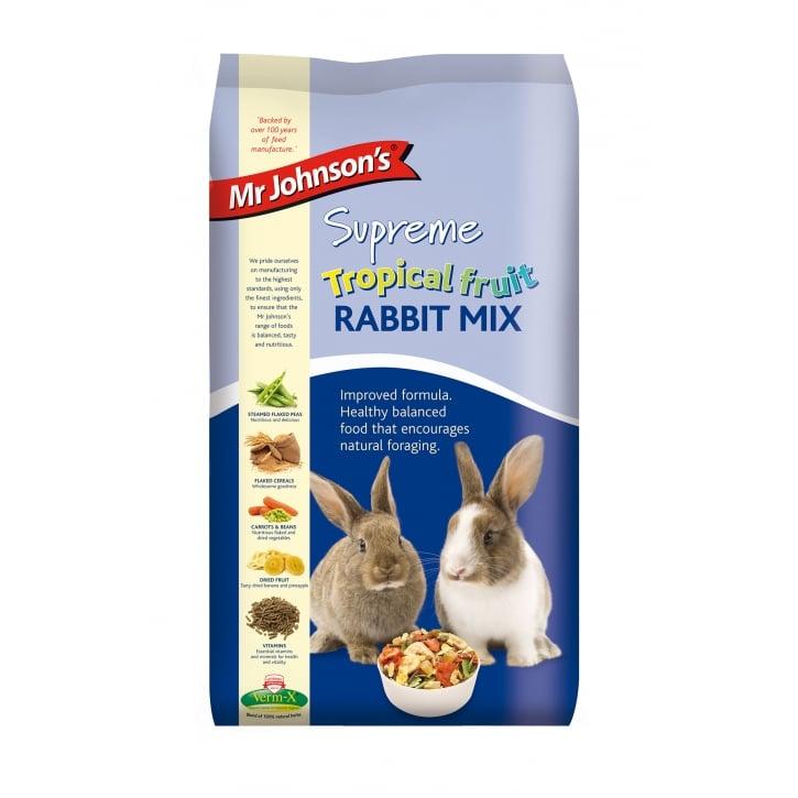 Mr Johnsons Supreme Tropical Fruit Rabbit Food 2 25kg   Feedem