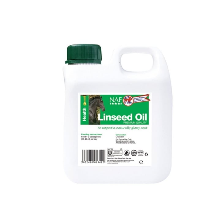 NAF (Natural Animal Feeds) Linseed Oil Horse Supplement 25 Litre