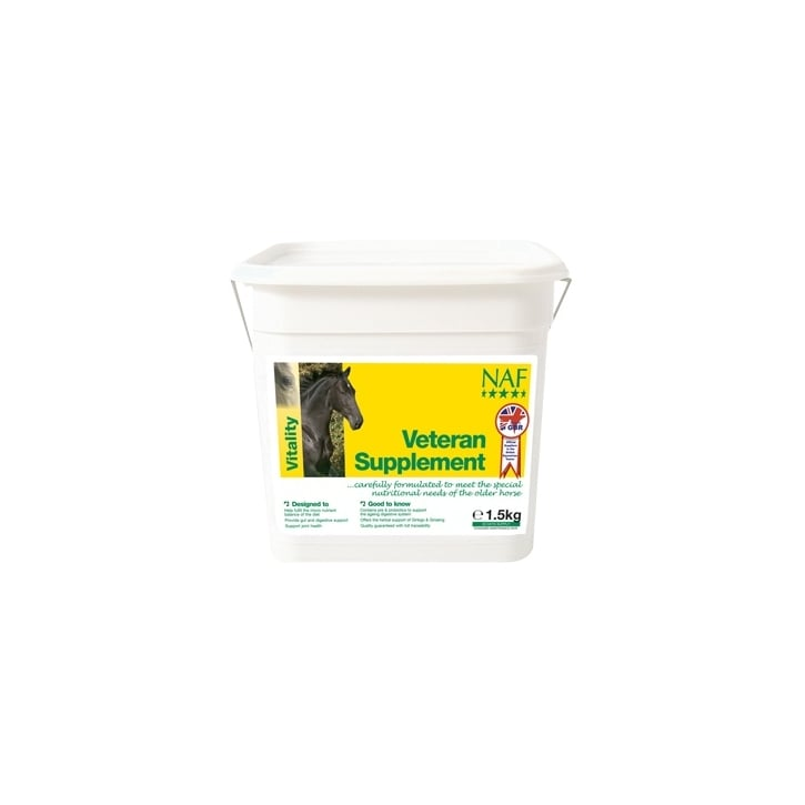 NAF (Natural Animal Feeds) Veteran Horse Supplement 1.5kg