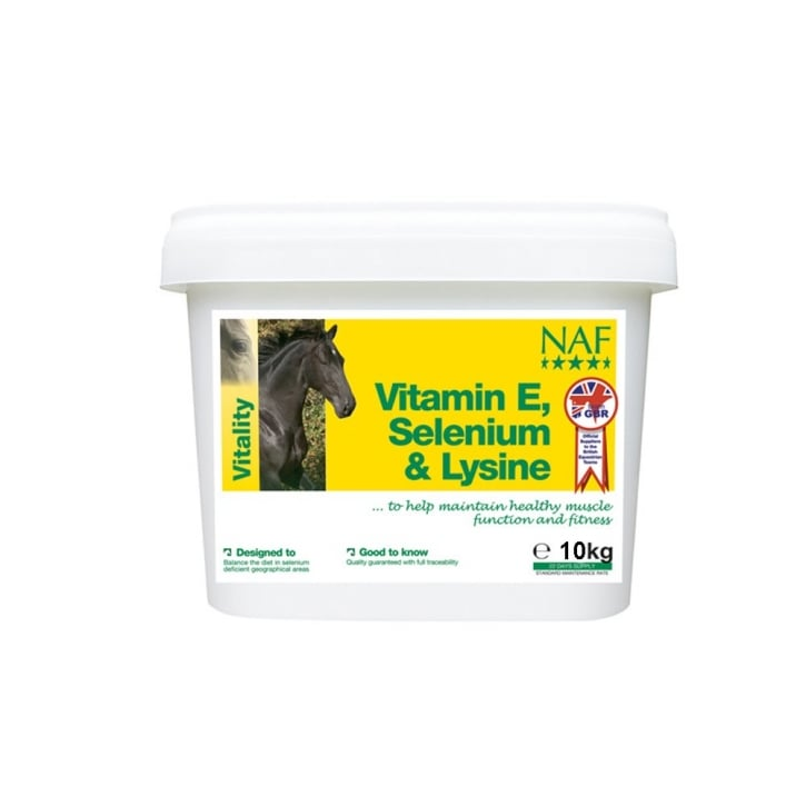 NAF (Natural Animal Feeds) Vitamin E Selenium & Lysine Horse Supplement 10kg
