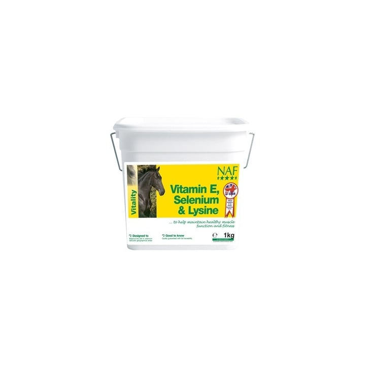NAF (Natural Animal Feeds) Vitamin E Selenium & Lysine Horse Supplement 1kg