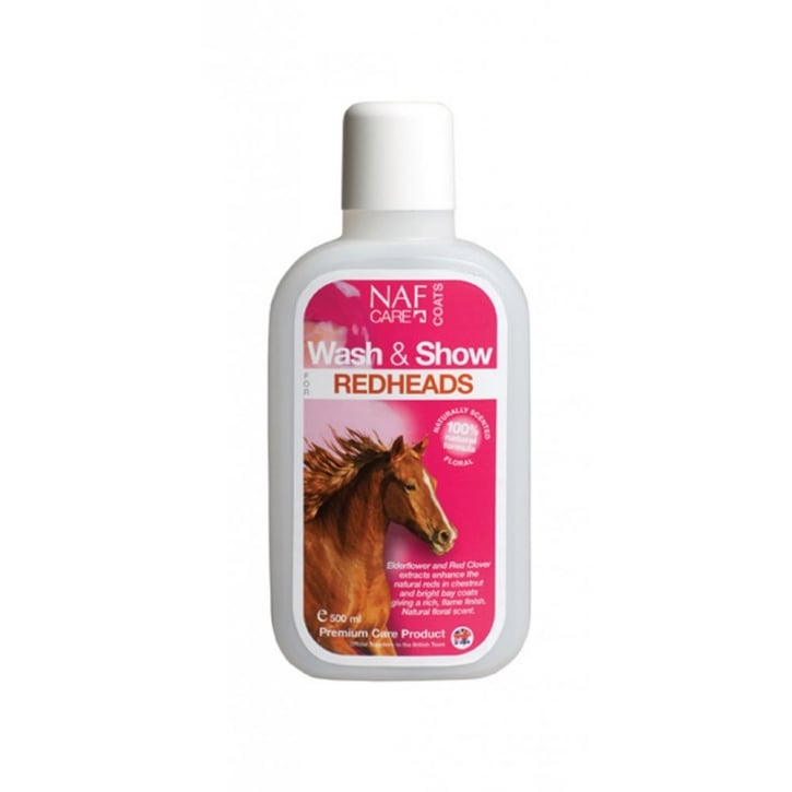 NAF (Natural Animal Feeds) Wash & Show Horse Shampoo For Redheads 500ml